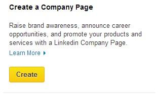 LinkedIn - Create Company Page