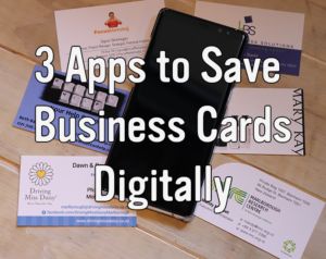 3 Apps to Save Business Cards Digitally